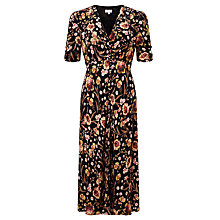 Buy Ghost Floral Printed Dress, Black Online at johnlewis.com