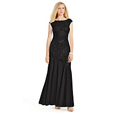 Buy Lauren Ralph Lauren Jaxie Sequin Dress, Black Shimmer Online at johnlewis.com