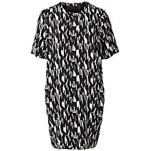 Buy Selected Femme Kani Print Dress, Black/White Online at johnlewis.com