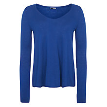 Buy American Vintage Blossom V-Neck Jumper, Indigo Online at johnlewis.com