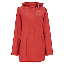 Buy Parka London Johanna Rain Print Parka, Burnt Orange Online at johnlewis.com