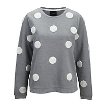 Buy Selected Femme Delight Spot Sweatshirt, Grey Online at johnlewis.com