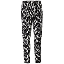 Buy Selected Femme Kani Print Trousers, Black/White Online at johnlewis.com