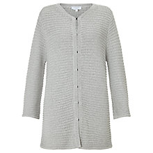 Buy Ghost Horizontal Ribbed Cardigan, Silver Online at johnlewis.com