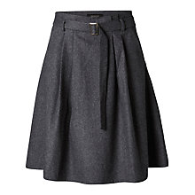 Buy Selected Femme Rosie Belted Skirt, Grey Online at johnlewis.com