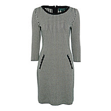 Buy Lauren Ralph Lauren Masona Dress, Black/Cream Online at johnlewis.com