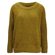 Buy Selected Femme Mado Ribbed Jumper, Sulphur Online at johnlewis.com