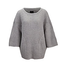 Buy Selected Femme Nina Kimono Sleeve Jumper, Light Grey Online at johnlewis.com