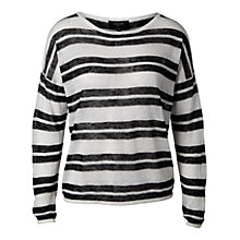 Buy Selected Femme Rosita Stripe Jumper, White/Black Online at johnlewis.com