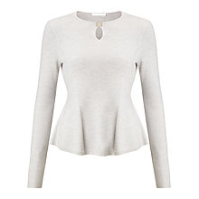 Buy BOSS Filga Notch Neck Jumper, Grey Online at johnlewis.com