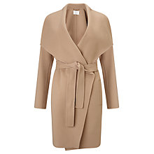 Buy BOSS Tie Belt Wrap Coat, Camel Online at johnlewis.com