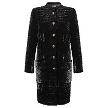 Buy Ghost Embroidered Velvet Jacket, Black Online at johnlewis.com