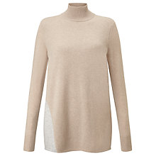 Buy BOSS Contrast Panel Cashmere Turtle Neck Jumper, Camel Online at johnlewis.com