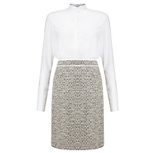 Buy BOSS Halennia 2-in-1 Dress, White/Cream Online at johnlewis.com