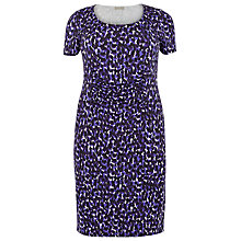 Buy Windsmoor Print Dress, Dark Purple Online at johnlewis.com