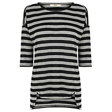 Buy Oasis Stripe Warm Handle Sweat Top, Multi Online at johnlewis.com