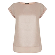 Buy Oasis Metallic Top, Pink Online at johnlewis.com