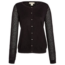 Buy Celuu Faith Pointelle Detail Cardigan, Black Online at johnlewis.com