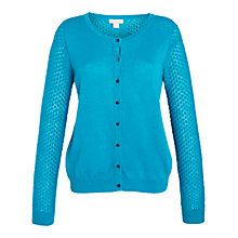 Buy Celuu Faith Pointelle Detail Cardigan, Green Online at johnlewis.com