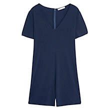Buy Mango Oversized Playsuit, Navy Online at johnlewis.com