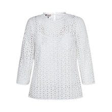Buy Hobbs Eliza Top, White Online at johnlewis.com