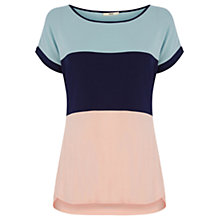Buy Oasis Beachcomber Stripe Top, Multi Pink Online at johnlewis.com