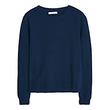 Buy Mango Essential Jumper, Navy Online at johnlewis.com