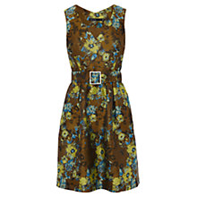 Buy Karen Millen Floral Jacquard Dress, Khaki Online at johnlewis.com