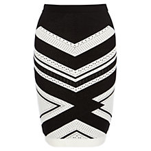Buy Karen Millen Chevron Stripe Knitted Skirt Online at johnlewis.com
