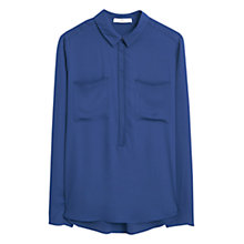 Buy Mango Twin Pocket Shirt, Dark Blue Online at johnlewis.com
