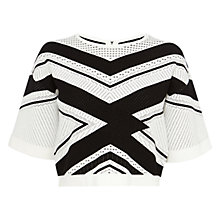 Buy Karen Millen Chevron Stripe Knitwear, Multi Online at johnlewis.com