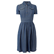 Buy Karen Denim Shirt Dress, Blue Online at johnlewis.com