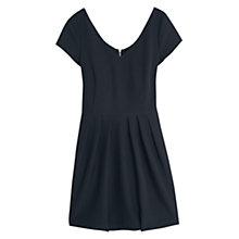 Buy Mango Pleated Skirt Dress, Black Online at johnlewis.com