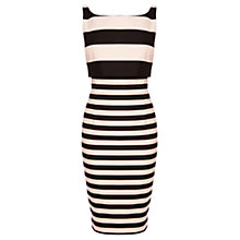 Buy Coast Prena Stripe Shift Dress, Black/Ivory Online at johnlewis.com