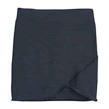 Buy Mango Textured Wrap Skirt, Black Online at johnlewis.com