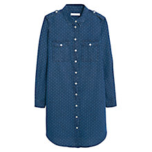 Buy Mango Dark Denim Dress, Open Blue Online at johnlewis.com