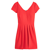 Buy Mango Pleated Skirt Dress, Bright Red Online at johnlewis.com