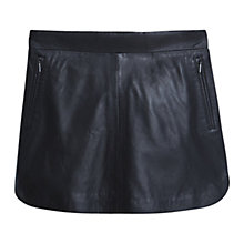 Buy Mango Leather Mini Skirt, Black Online at johnlewis.com