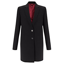 Buy Jigsaw Compact Wool Jacket, Black Online at johnlewis.com