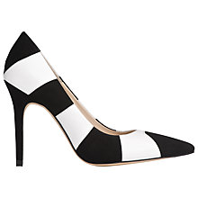 Buy L.K. Bennett Fernie Stiletto Court Shoes, Suede Black/White Online at johnlewis.com