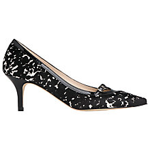 Buy L.K. Bennett Heidi Mid Heeled Stiletto Court Shoes, Black/White Online at johnlewis.com