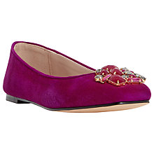 Buy Dune Humphries Jewel Embellished Pumps, Berry Suede Online at johnlewis.com