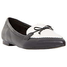 Buy Dune Georgette Bow Pointed Leather Loafers Online at johnlewis.com