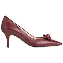 Buy L.K. Bennett Lottie Bow Detail Leather Court Shoes, Mulberry Online at johnlewis.com