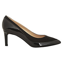 Buy Hobbs Suki Leather Mix Court Shoes, Black Online at johnlewis.com