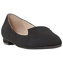 Buy Dune Gracee Leather Reptile Print Pointed Toe Loafer Online at johnlewis.com