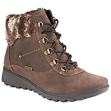 Buy John Lewis Polly Boots, Brown Nubuck Online at johnlewis.com