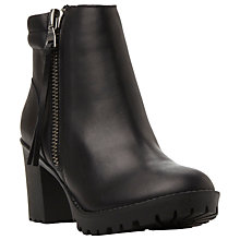 Buy Steve Madden Norway Cleated Sole Ankle Boots, Black Leather Online at johnlewis.com