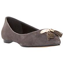 Buy Dune Hewee Tassel Detail Flat Pointed Ballerina Pumps Online at johnlewis.com