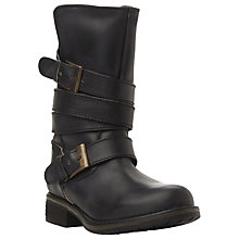Buy Steve Madden Kindell Strap Detail Calf Boots Online at johnlewis.com